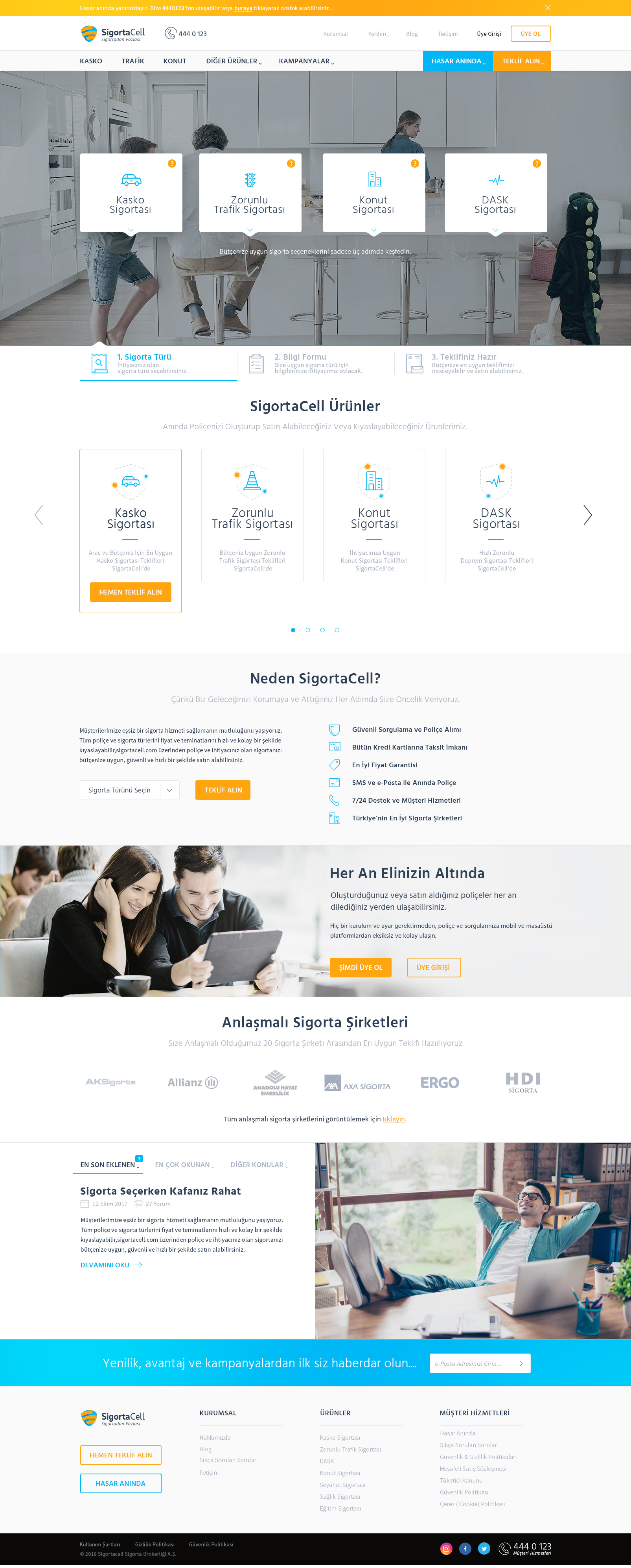 SigortaCell Landing Page