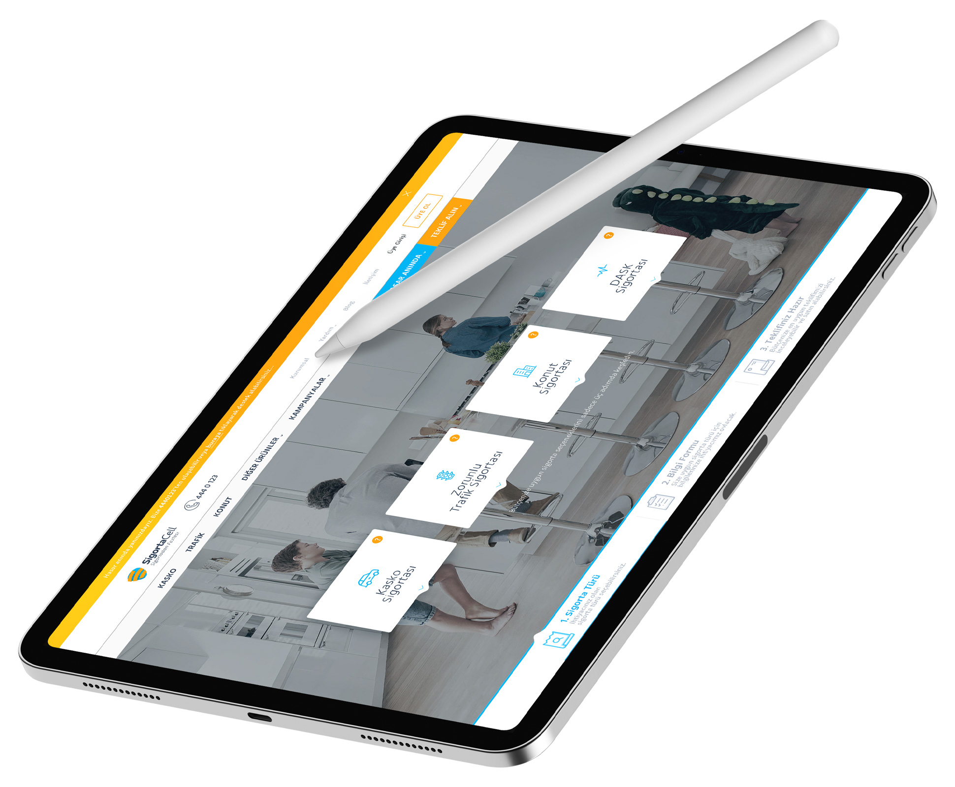 SigortaCell Tablet Responsive